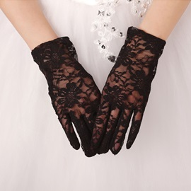 Excellent Lace Black Short Gloves