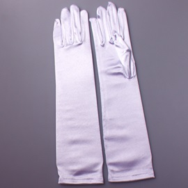 Plain Satin Wedding Gloves Cheap