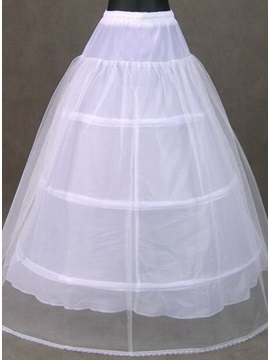 Delicate White Tulle Ball Gown Wedding Petticoat