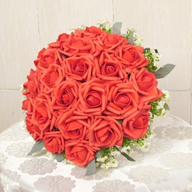Elegant Sphere Shaped Rose with Cute Flower Wedding Bridal Bouquet