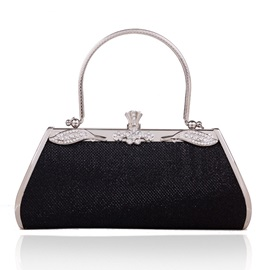 Vintage Style Evening Bag with Rhinestones