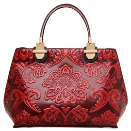 Vintage Style Pu Embossing Pattern Women Satchel