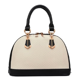 Black and White Color Shell Women Satchel