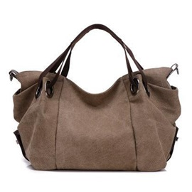 Pure Color Large Capacity Women's Satchel