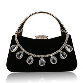 Shining Rhinestone Decorated Women's Handbag
