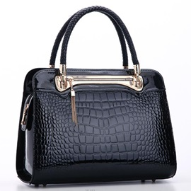 Classic Croco-embossed with Tassel Women's Satchel