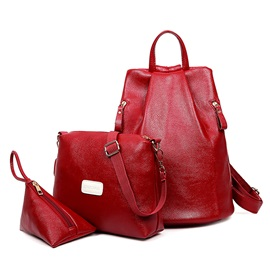 Casual Function Backpack 3 Pieces of Bag Sets