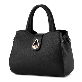 Hollow Waterdrop Belt Agraffee Fashion Satchel