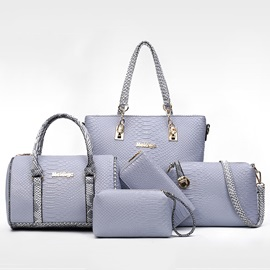 Charming Color Block Embossed Bag Sets