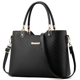 Ladylike Rhombic Embossed Women Satchel