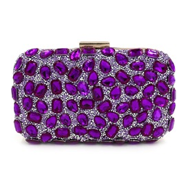 Ladylike Sequins Diamond Decorated Evening Clutch