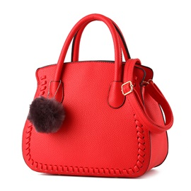Simple Knitted Decorated Shell Women Satchel