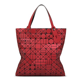 Celebrity Foldable Geometric Plaid Women Satchel