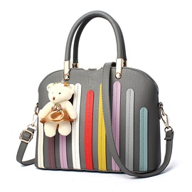 Lastest Stripe Applique Women Satchel