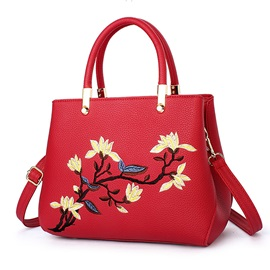 Vogue Ladylike Embroidery Motorcycle Women Satchel