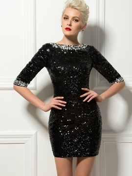 Sheath Bateau Neck Beading Sequins Short Cocktail Dress & Cocktail Dresses from china