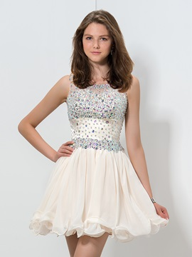 Scoop Neck Beading Crystal Homecoming Dress & Cocktail Dresses online