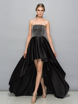 Cool Strapless Beading High Low Cocktail Dress & Cocktail Dresses under 300
