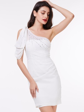 Modern One Shoulder Beading Sheath Cocktail Dress & Cocktail Dresses from china