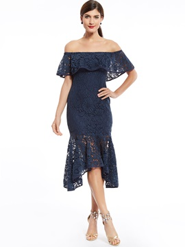Off-The-Shoulder Lace Mermaid Cocktail Dress & attractive Cocktail Dresses