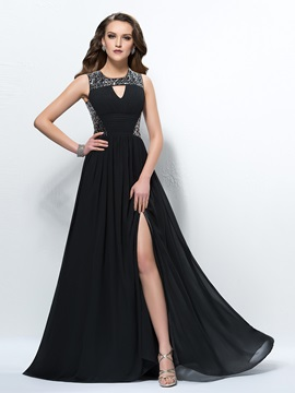 Glamorous Sequins Ruched A-Line Empire Waistline Floor-Length Evening Dress & casual Evening Dresses