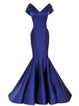 Timeless Off-the-Shoulder V-Neck Mermaid Long Evening Dress & romantic Evening Dresses