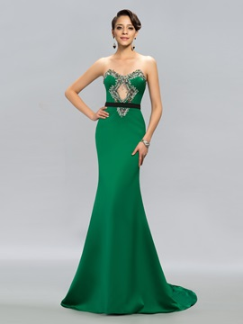 Dazzling Mermaid Sweetheart Beading Court Train Evening Dress Designed & formal Evening Dresses