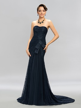 Dazzling Sweetheart Lace Mermaid Long Evening Dress Designed & Evening Dresses for less