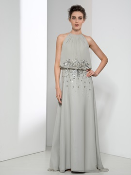 Elegant Jewel Neck Sequin Beading Long Evening Dress & Evening Dresses for sale