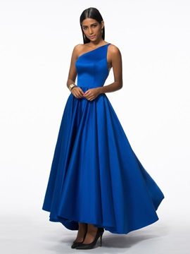 Modern One Shoulder Appliques High Low Evening Dress & Evening Dresses under 100