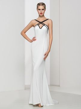 Spaghetti Straps Long Sheath Evening Dress & vintage Evening Dresses
