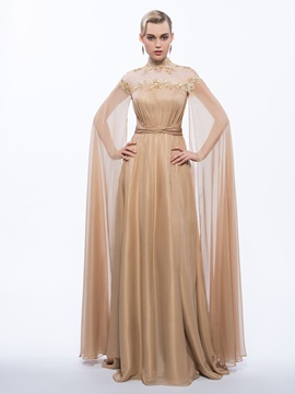 Vintage High Neck Sequins Long Evening Dress & amazing Evening Dresses