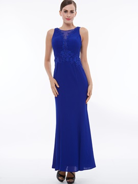 Elegant Straps Appliques Sheath Evening Dress & informal Evening Dresses
