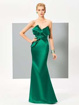Elegant Sweetheart Mermaid Ruffles Floor-Length Evening Dress
