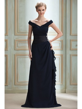 Timeless Off-the-Shoulder V-Neck Appliques A-Line Yana's Long Evening Dress & Evening Dresses under 100