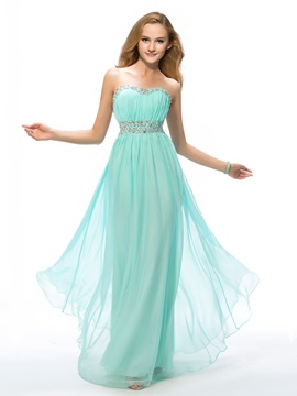Delicate Sweetheart Beading A-Line Floor-Length Prom Dress Designed & Prom Dresses for sale