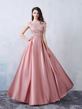Fancy Straps Bowknot Lace Long Prom Dress & Prom Dresses for less