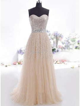 Shining Sweetheart A-Line Sequins Prom Dress & fairy Prom Dresses