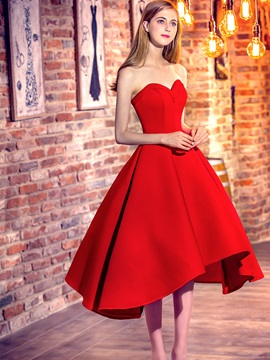 Amazing Sweetheart A-Line Lace-Up Asymmetrical Prom Dress & Prom Dresses under 100