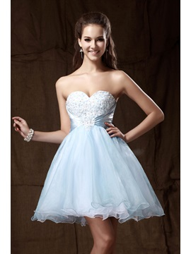 Graceful Sweetheart Mini-Length Empire Appliques Sandra's Homecoming Dress & Prom Dresses 2012