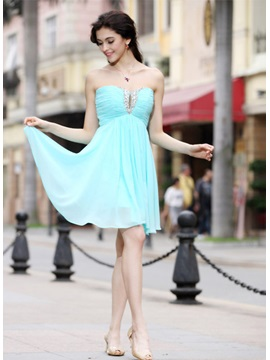 Pretty Sweetheart Sequins Knee-Length Pleats A-Line Homecoming Dress & Homecoming Dresses on sale