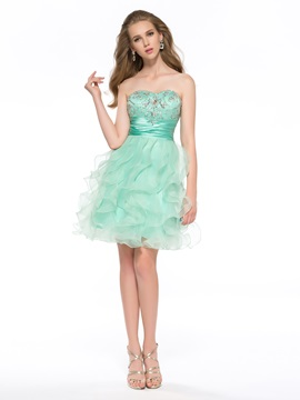 Latest A-Line Sweetheart Beaded Short Homecoming Dress & Homecoming Dresses under 100