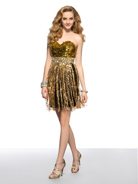 Cool A-Line Sweetheart Beaded Sequins Zipper-up Short Homecoming/Cocktail Dress & discount Homecoming Dresses