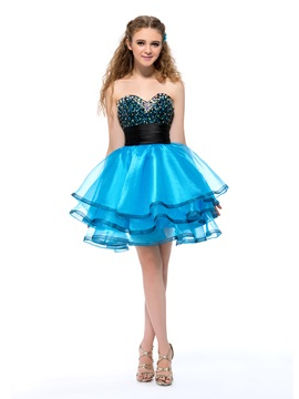 Admirable Sweetheart Beading Sequins Short Homecoming Dress & fairy Homecoming Dresses