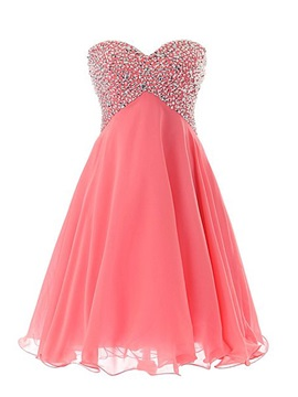 Modern Sweetheart Sequined Beading Lace-up Short Homecoming Dress & Homecoming Dresses 2012
