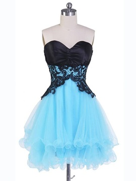 Lovely Sweetheart Appliques Short Homecoming Dress & Homecoming Dresses under 100