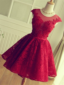 Pretty Straps Appliques Beading Lace Homecoming Dress & Homecoming Dresses from china
