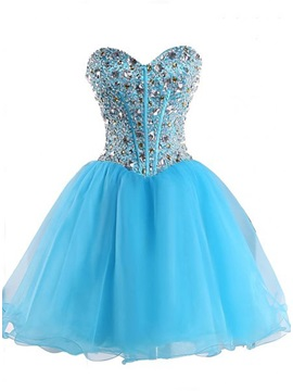 Delicate Sweetheart Beading Lace-Up Homecoming Dress & affordable Homecoming Dresses