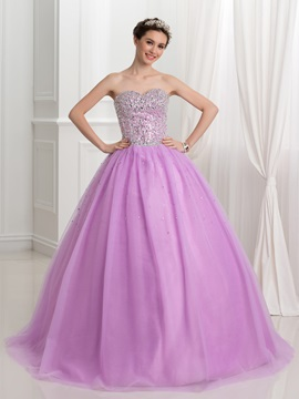 Dramatic Sweetheart Sequins Ball Gown Quinceanera Dress