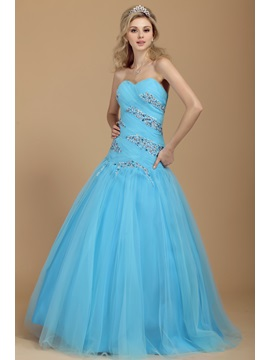 Sheath Sweetheart Sequins Beading Lace-up Dasha's Quinceanera/Prom Dress